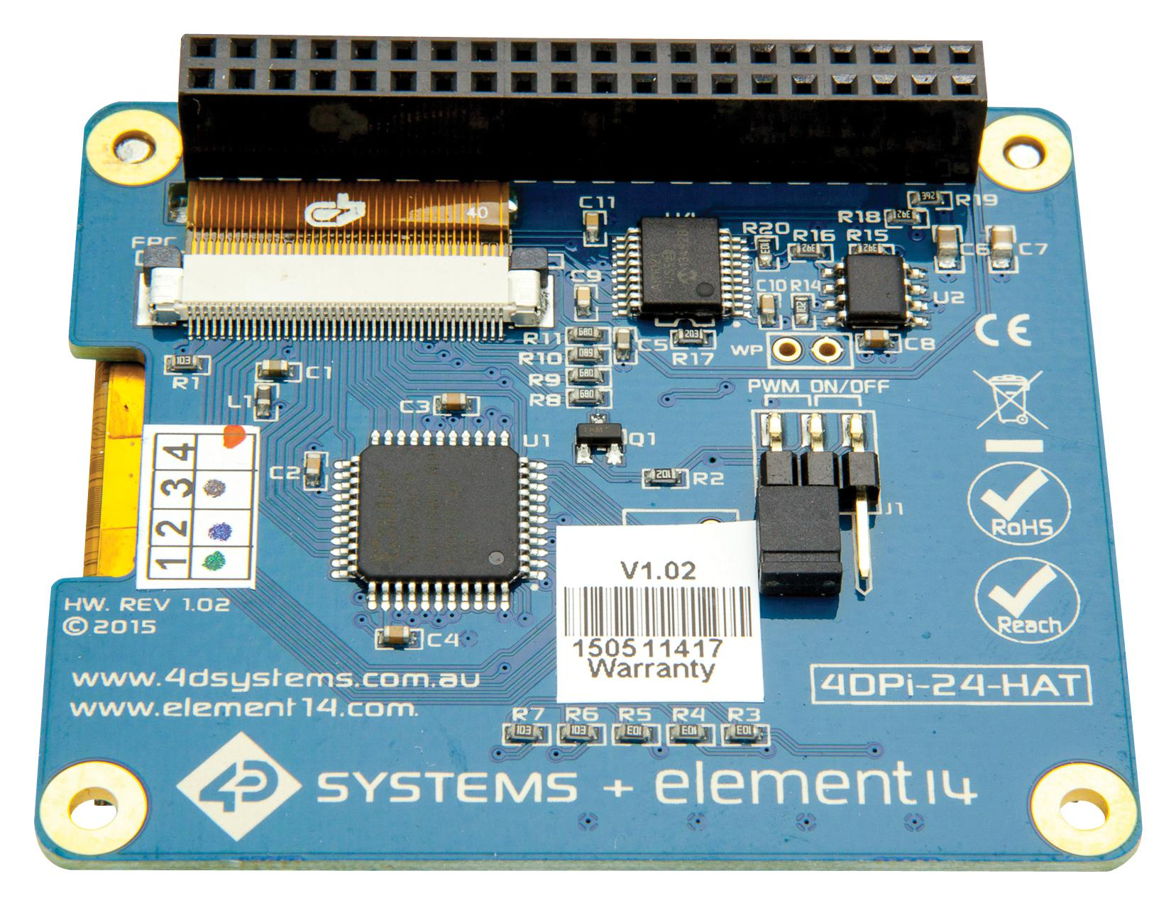 Raspberry Pi Gains 35 Hat Based Touchscreen Looks Like Printed Circuit Board