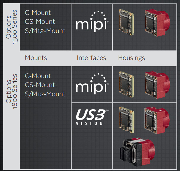 Embedded vision cams use MIPI-CSI and USB3 Vision to hook up