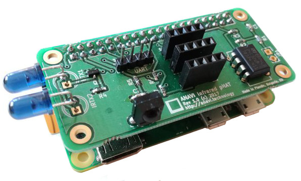 pHAT adds IR to the Raspberry Pi