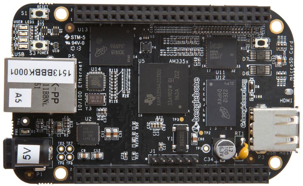 Enhanced Beaglebone Sbc Has 1gb Ram Gbe Sensors