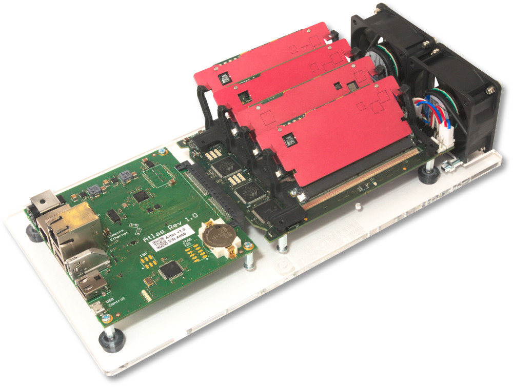 Clustering system supports up to 72 ARM modules