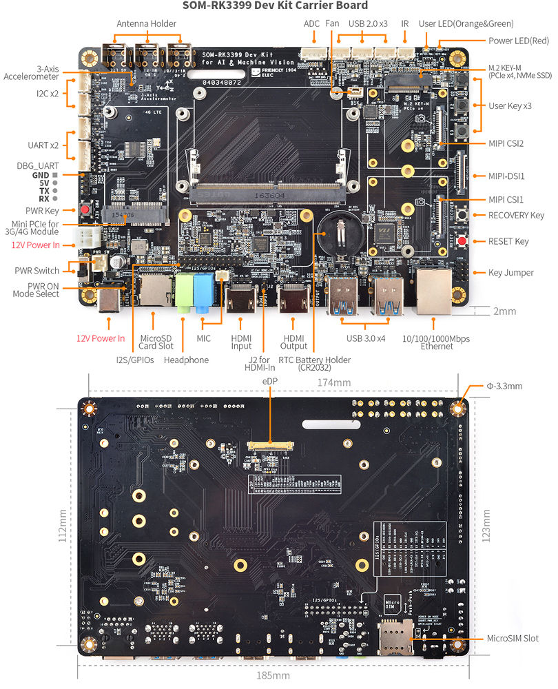 Hybrid RK3399 COM/SBC hacker board can plug into feature-rich carrier