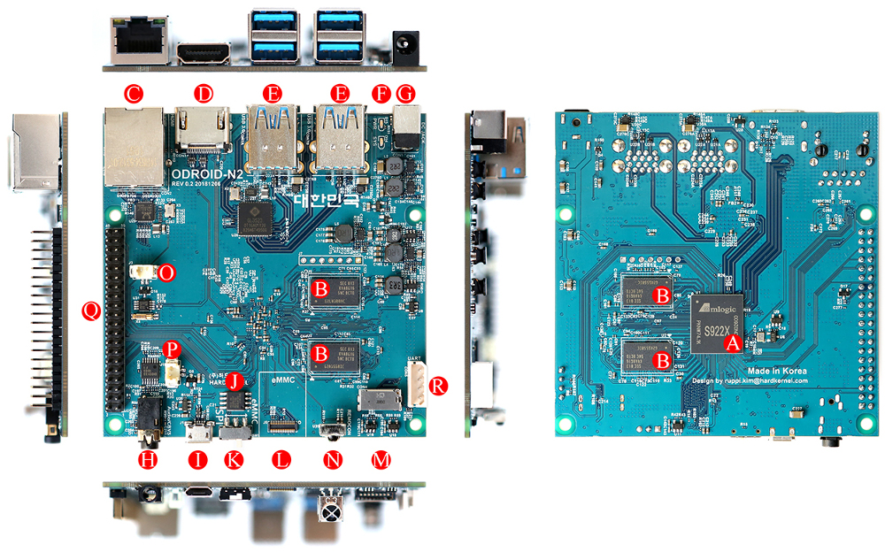 Odroid-N2 SBC has hexa-core Amlogic S922X and $63 to $79 price