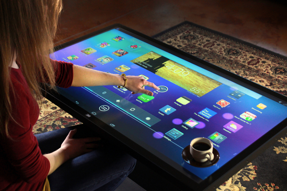 46-inch touchscreen coffee table runs Android