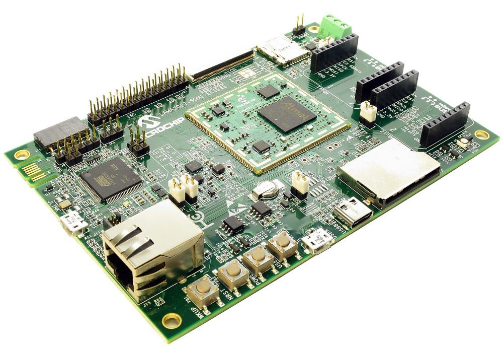 Open source COM runs mainline Linux on Microchip SAMA5D2 SiP