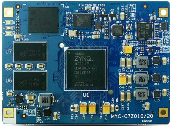 Sandwich-style dev board runs Linux on Zynq-7000