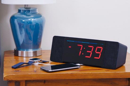 Alexa-ready digital alarm clock radio runs Linux on hackable