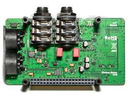 RPi HAT add-on does 192kHz 24-bit audio and MIDI too