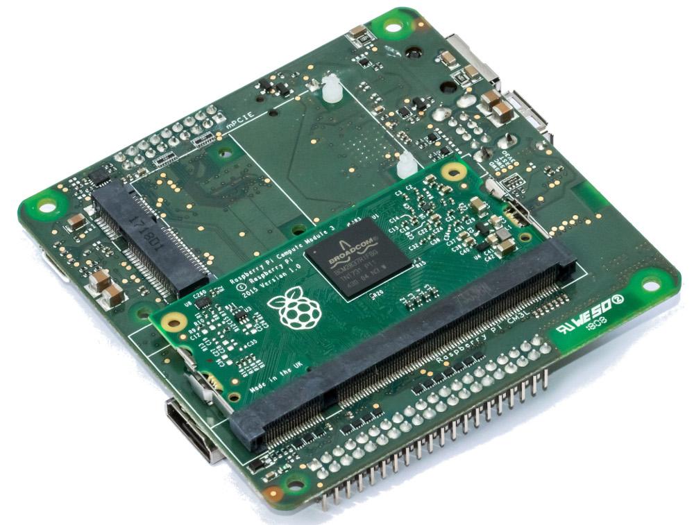 Raspberry Pi Cm3 Carrier Has An Artik Mcu For Offline