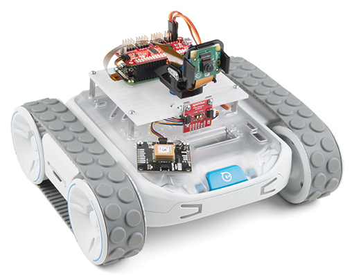 RPi Zero W based robot kits offer pan-tilt cam, GPS, and ToF