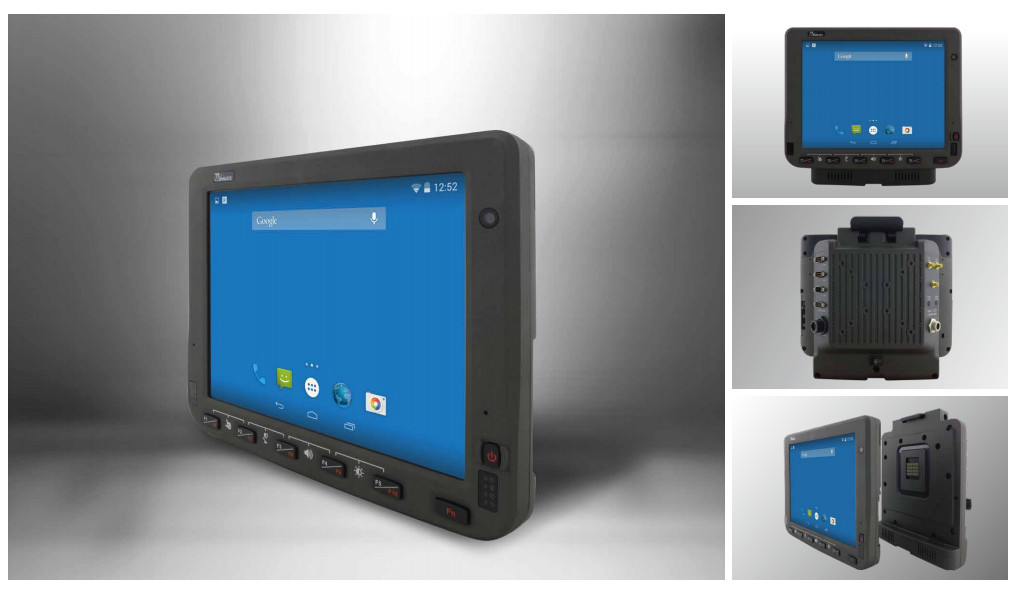 Touch-panel computer for forklifts runs Android or Ubuntu